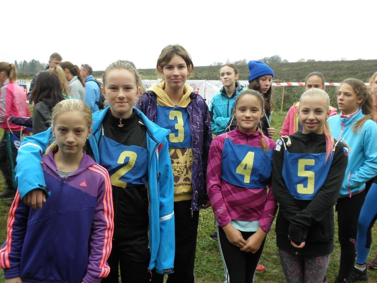 Krajské kolo přespolního běhu - mladší žákyně