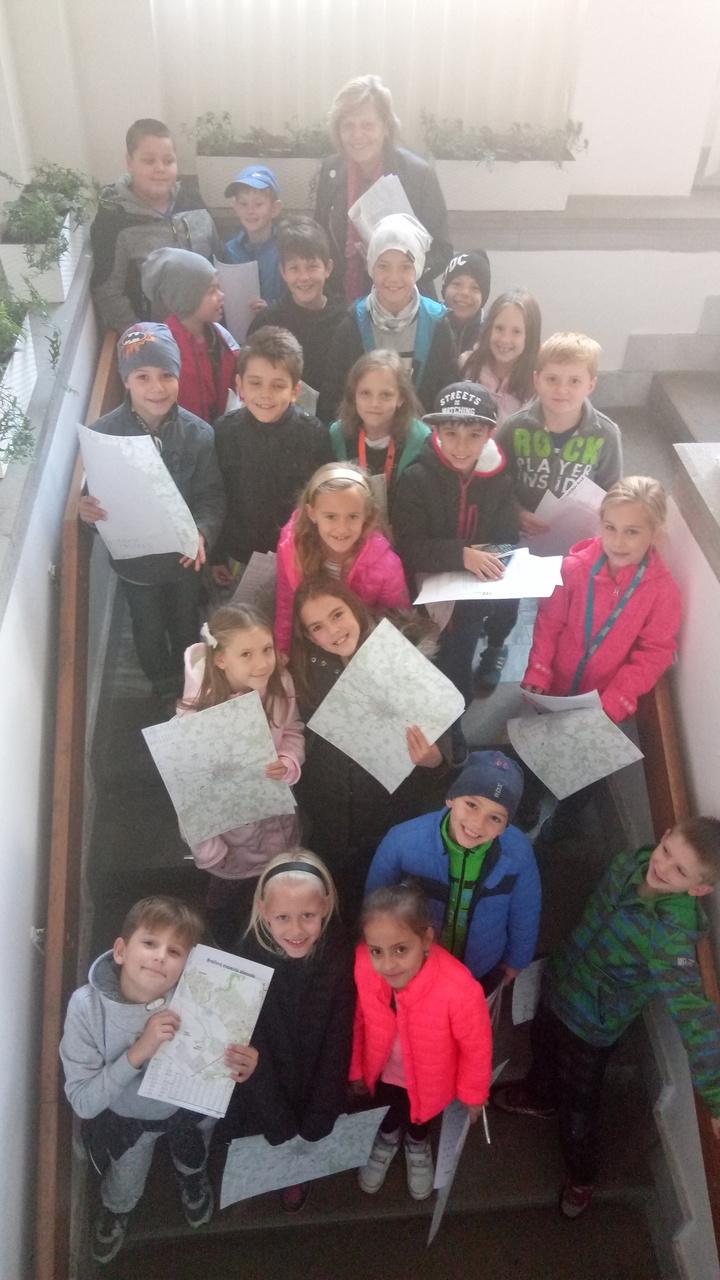 Žáci 3. C na návštěvě u paní místostarostky