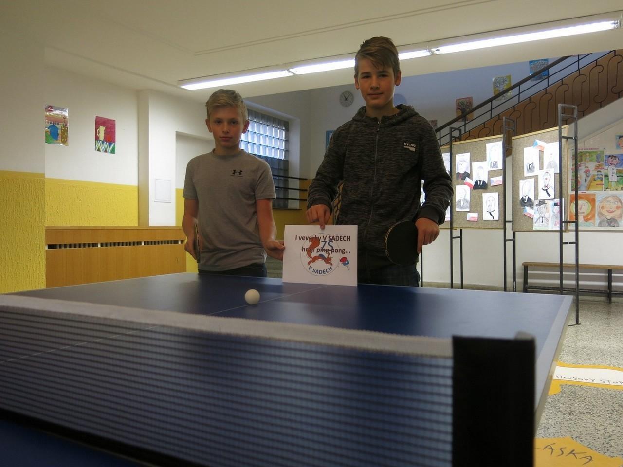 Veverky ze Sadů ovládly tenisové stoly